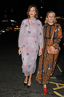Alexa Chung at the LFW s/s 2017 Business of Fashion BoF500 gala dinner, The London Edition Hotel, Berners Street, London, England, UK, on Monday 19 September 2016.<br /> CAP/CAN<br /> &copy;CAN/Capital Pictures /MediaPunch ***NORTH AND SOUTH AMERICAS ONLY***