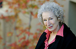 Margaret Atwood visits Victoria to do a live reading from her new international release, The Penelopiad. Atwood's new book is part of a trilogy called The Myths, in which three famed authors retell Greek myths from a feminine perspective. Atwood is purportedly one of the front-running authors who may be awarded the Nobel Prize for Literature. Photo assignment for the National Post national newspaper in Canada.