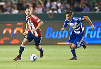 CARSON, CA – June 18, 2011: Chivas USA defender Heath Pearce (3) during the match between Chivas USA and FC Dallas at the Home Depot Center in Carson, California. Final score Chivas USA 1, FC Dallas 2.