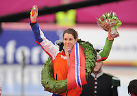SCHAATSEN: HAMAR: Vikingskipet, 11-01-2014, Essent ISU European Championship Allround, Kampioen Ireen W¸st (NED), ©foto Martin de Jong