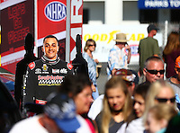 Sep 4, 2016; Clermont, IN, USA; NHRA top fuel driver J.R. Todd during qualifying for the US Nationals at Lucas Oil Raceway. Mandatory Credit: Mark J. Rebilas-USA TODAY Sports