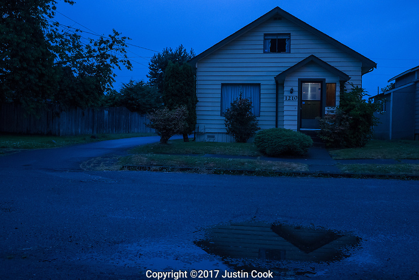 1210 E 1st St, Aberdeen, WA - the childhood home of the late Nirvana singer and guitarist Kurt Cobain on Friday, June 9, 2017. (Justin Cook)