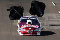 Oct. 15, 2011; Chandler, AZ, USA; NHRA pro stock driver Greg Anderson during qualifying at the Arizona Nationals at Firebird International Raceway. Mandatory Credit: Mark J. Rebilas-