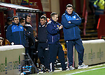 Motherwell v St Johnstone..30.12.15  SPFL  Fir Park, Motherwell<br /> An unhappy Tommy Wright watches the game<br /> Picture by Graeme Hart.<br /> Copyright Perthshire Picture Agency<br /> Tel: 01738 623350  Mobile: 07990 594431
