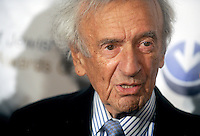 NEW YORK, NY - MAY 28: Elie Wiesel pictured at The Third Annual Champion of Jewish Values Awards Gala at the Marriott Marquis in New York City on May 28, 2015. Credit: Dennis Van Tine/MediaPunch