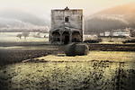 A lonely abandoned church in Navelli, a comune and town in the province of L'Aquila, in the Abruzzo region of central Italy.