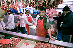 'Halal Meats' owned by Mr Ali, in Queens Market, Upton Park East London. The market being is threatened with redevelopment.