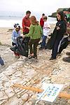 Rosita, J. Emma, Louise, Dennis & Naomi,  On Beach Cleanup