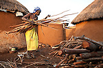 In addition to being used for cooking, the collection and sale of firewood provides some residents of the camp with a valuable income stream. A rough estimate suggests that those women who are able to walk the long distances necessary to gather wood, and who can sell foodstuffs or engage in other petty trade might earn $15 in a good month.