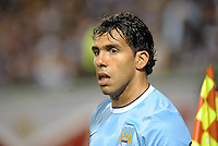 Carlos Tevez (32) Manchester City.Manchester City defeated Chelsea 4-3 in an international friendly at Busch Stadium, St Louis, Missouri.