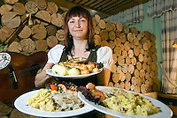 National Park Thueringer Wald, Thueringen, Germany, June 2009. Typical food in a rastaurant along the Rennsteig. Many hiking trails such as the famous Rennsteig and the Goldpfad cross the thuringia forest. Photo by Frits Meyst/Adventure4ever.com