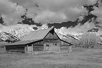 Mormon Row Barn - Grand Tetons, WY - Infrared Black & White