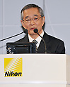 September 21, 2011, Tokyo, Japan - Makoto Kimura, President of the Nikon corporation., speaks during a press conference in Tokyo, Japan, on September 21, 2011. (Photo by AFLO) [3620]
