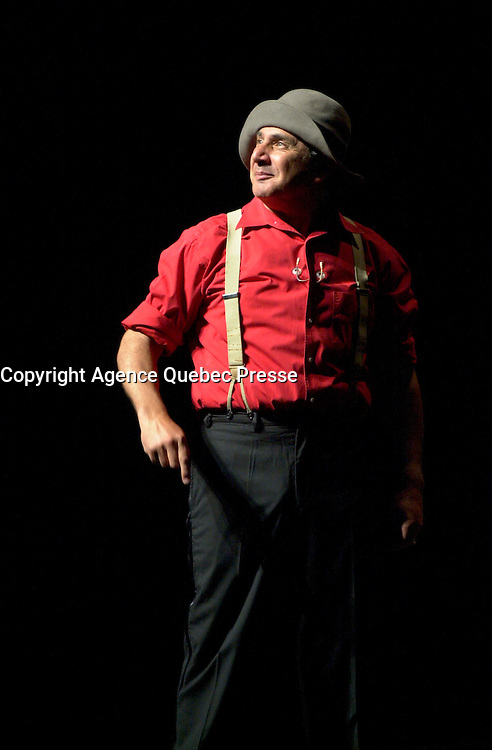 July 14, 2002 Montreal, Quebec, Canada<br /> <br /> French comic and actor Michel Boujenah on stage , at the Monument national ,in Montreal, Canada,<br /> during  the 20th Juste Pour Rire Festival, <br /> <br /> <br /> NOTE : <br />  Nikon D-1 jpeg opened with Qimage icc profile, saved in Adobe 1998 RGB<br /> .Uncompressed  Original  size  file availble on request.