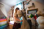Rya Hickey, daughter of Margaret B. Jones in her bedroom