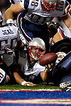 18 November 2007: New England Patriots fullback Kyle Eckel (38) breaks across the goal line for a touchdown against the Buffalo Bills at Ralph Wilson Stadium in Orchard Park, NY. The Patriots defeated the Bills 56-10 in their second meeting of the season...Mandatory Photo Credit: Ed Wolfstein Photo