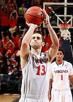 CHARLOTTESVILLE, VA- DECEMBER 6: Sammy Zeglinski #13 of the Virginia Cavaliers handles the ball during the game on December 6, 2011 against the George Mason Patriots at the John Paul Jones Arena in Charlottesville, Virginia. Virginia defeated George Mason 68-48. (Photo by Andrew Shurtleff/Getty Images) *** Local Caption *** Sammy Zeglinski