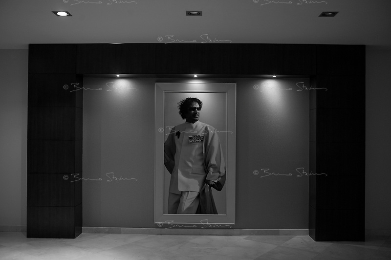Tripoli, Libya, March 14, 2011.A portrait of the 'leader' in one of tripoli's five stars' palaces.