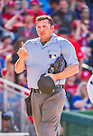 23 May 2015: MLB Umpire Dan Bellino works behind home plate during a game between the Philadelphia Phillies and the Washington Nationals at Nationals Park in Washington, DC. The Phillies defeated the Nationals 8-1 in the second game of their 3-game weekend series. Mandatory Credit: Ed Wolfstein Photo *** RAW (NEF) Image File Available ***