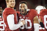 Stanford, CA - November 26, 2016: Solomon Thomasduring the Stanford vs Rice game Saturday at Stanford Stadium.<br /> <br /> Stanford won 41- 17.
