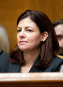 United States Senator Kelly Ayotte (Republican of New Hampshire) listens to the testimony of U.S. Secretary of Transportation Ray LaHood before the U.S. Senate Budget Commitee hearing on the President's FY 2013 Budget Request for the Department of Transportation (DOT) on Capitol Hill in Washington, D.C. on Wednesday, February 15, 2012..Credit: Ron Sachs / CNP