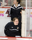 Katie King (BC - Head Coach) - The Boston College Eagles and the visiting University of New Hampshire Wildcats played to a scoreless tie in BC's senior game on Saturday, February 19, 2011, at Conte Forum in Chestnut Hill, Massachusetts.