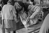 Woodwork class, Whitworth Comprehensive School, Whitworth, Lancashire.  1970.