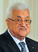 President Mahmoud Abbas of the Palestinian Authority makes a statement in the East Room of the White House following a series of bi-lateral meetings in Washington, D.C. with United States President Barack Obama and other Middle Eastern leaders on Wednesday, September 1, 2010.  The statements are in advance of the opening of the first direct talks in two years between Israel and the Palestinian Authority scheduled to begin at the State Department in Washington, D.C. tomorrow.  .Credit: Ron Sachs / Pool via CNP.(RESTRICTION: NO New York or New Jersey Newspapers or newspapers within a 75 mile radius of New York City)