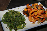 Japanese Calamari salad and Seaweed Salad. ©2015. Jim Bryant Photo. All Rights Reserved.