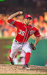 8 June 2013: Washington Nationals pitcher Craig Stammen on the mound against the Minnesota Twins at Nationals Park in Washington, DC. The Twins edged out the Nationals 4-3 in 11 innings. Mandatory Credit: Ed Wolfstein Photo *** RAW (NEF) Image File Available ***
