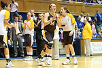 23 November 2012: Valparaiso's Tabitha Gerardot (14). The Duke University Blue Devils played the Valparaiso University Crusaders at Cameron Indoor Stadium in Durham, North Carolina in an NCAA Division I Women's Basketball game. Duke won the game 90-45.
