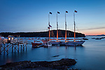 Sunrise over Frenchmans Bay in Bar Harbor, ME, USA