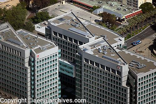 aerial photograph Adobe Systems San Jose, San Clara county, California