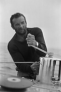 29 Jun 1976, Newport, Aquidneck Island, Rhode Island, USA. French sailor Eric Tabarly wins the Transatlantic race for the second time, arriving aboard the Pen Duick VI in Newport. 1976 saw the biggest edition of the Single-Handed Trans-Atlantic Race (OSTAR). Image by © JP Laffont