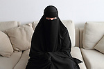 Arhus, Denmark, April 15th, 2010. Sumayyah 31 years old, danish, converted to Islam in august 2007.