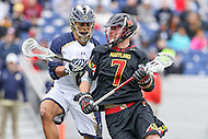 Annapolis, MD - February 11, 2017: Maryland Terrapins Tim Rotanz (7) in action during game between Maryland vs Navy at  Navy-Marine Corps Memorial Stadium in Annapolis, MD.   (Photo by Elliott Brown/Media Images International)