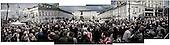 Warsaw 13/04/2010 Poland<br /> People mourning the tragic death of President Lech Kaczynski and his wife.<br /> on pictures: People gather and pray in front of the Presidental Palace.<br /> Photo: Adam Lach / Napo Images for The New York Times<br /> <br /> Zaloba po tragicznej smierci Prezydenta Lecha Kaczynskiego i jego malzonki.<br /> na zdjeciu: tlum ludzi przed Palacem Prezydenckim.<br /> Fot: Adam Lach / Napo Images for The New York Times