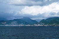 Honolulu: Pearl Harbor (left) and Waikiki. Photo '82.