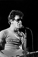 Mont de Marsan, France. August 7th 1977.  Lou Reed performing at the second edition of the first European Punk Rock Festival at Mont De Marsan.