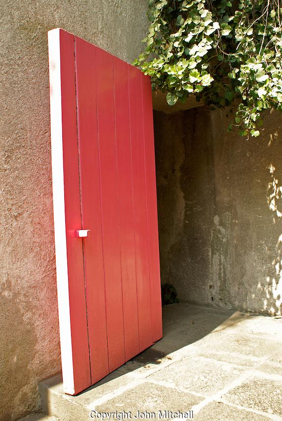 Pink door, Museo Casa Luis Barragan house,  Mexico City, Mexico. The former home of Mexican architect Luis Barragan is a UNESCO World Heritage Site.