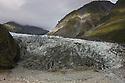 Retreating Fox Glacier at West Coast, Westland National Park, South Island, New Zealand