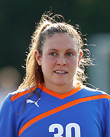 Boston Breakers goalkeeper Alice Binns (30). In a Women's Premier Soccer League Elite (WPSL) match, the Boston Breakers defeated Western New York Flash, 3-2, at Dilboy Stadium on May 26, 2012.