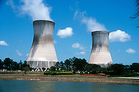 COOLING TOWERS<br /> Used in Large Power Generation Plants<br /> Hyperboloid structures used for cooling and disposing heat into atmosphere, sometimes using evaporation processes. By means of a closed loop system, the cooling towers cool water utilized to condense the steam under the generating unit's steam turbine.