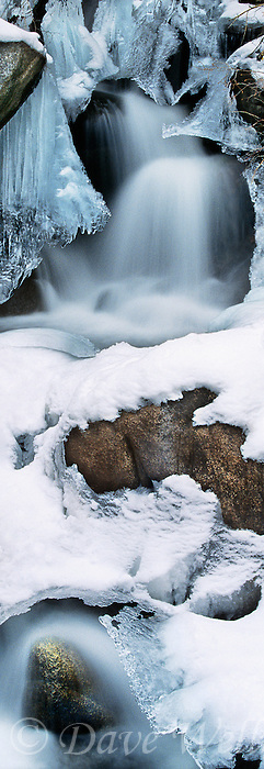 920000015 panoramic view of frozen first falls below middle palisades glacier in the eastern sierras near big pine california