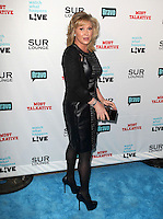 Kathy Hilton.Bravo's Andy Cohen's Book Release Party For &quot;Most Talkative: Stories From The Front Lines Of Pop Held at SUR Lounge, West Hollywood, California, USA..May 14th, 2012.full length black  dress side leather .CAP/ADM/KB.&copy;Kevan Brooks/AdMedia/Capital Pictures.