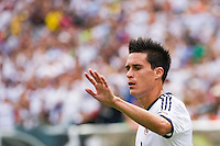 Jose Maria Callejon (21) of Real Madrid celebrates scoring. Real Madrid defeated Celtic F. C. 2-0 during a 2012 Herbalife World Football Challenge match at Lincoln Financial Field in Philadelphia, PA, on August 11, 2012.