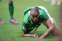 FUSSBALL   1. BUNDESLIGA   SAISON 2011/2012   32. SPIELTAG SV Werder Bremen - FC Bayern Muenchen               21.04.2012 Naldo (SV Werder Bremen) enttaeuscht