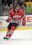 18 January 2008: Northeastern University Huskies' forward Randy Guzior, a Sophomore from Lemont, IL, in action against the University of Vermont Catamounts at Gutterson Fieldhouse in Burlington, Vermont. The two teams battled to a 2-2 tie in the first game of their 2-game weekend series...Mandatory Photo Credit: Ed Wolfstein Photo