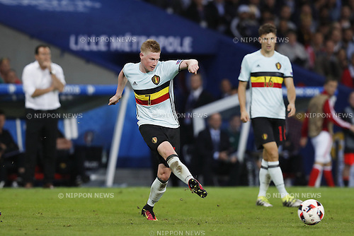 Kevin De Bruyne (BEL), JULY 1, 2016 - Football / Soccer : UEFA EURO 2016 Quarter-finals match between Wales 3-1 Belgium at the Stade Pierre Mauroy in Lille Metropole, France. (Photo by Mutsu Kawamori/AFLO) [3604]