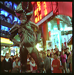 Street performer on stilts in Ximending, Taipei, Taiwan.